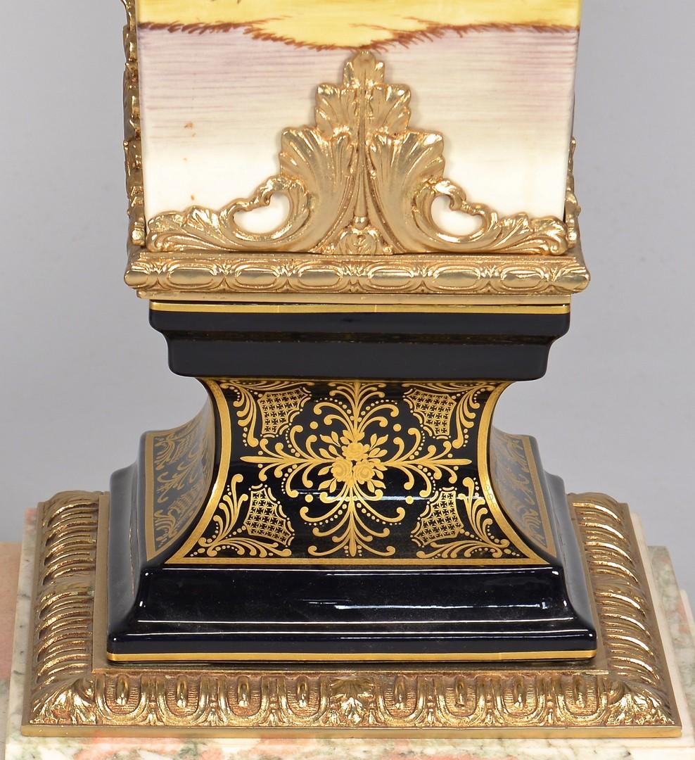 Lot 324: Pr. Sevres Style Porcelain Pedestals w/ Marble