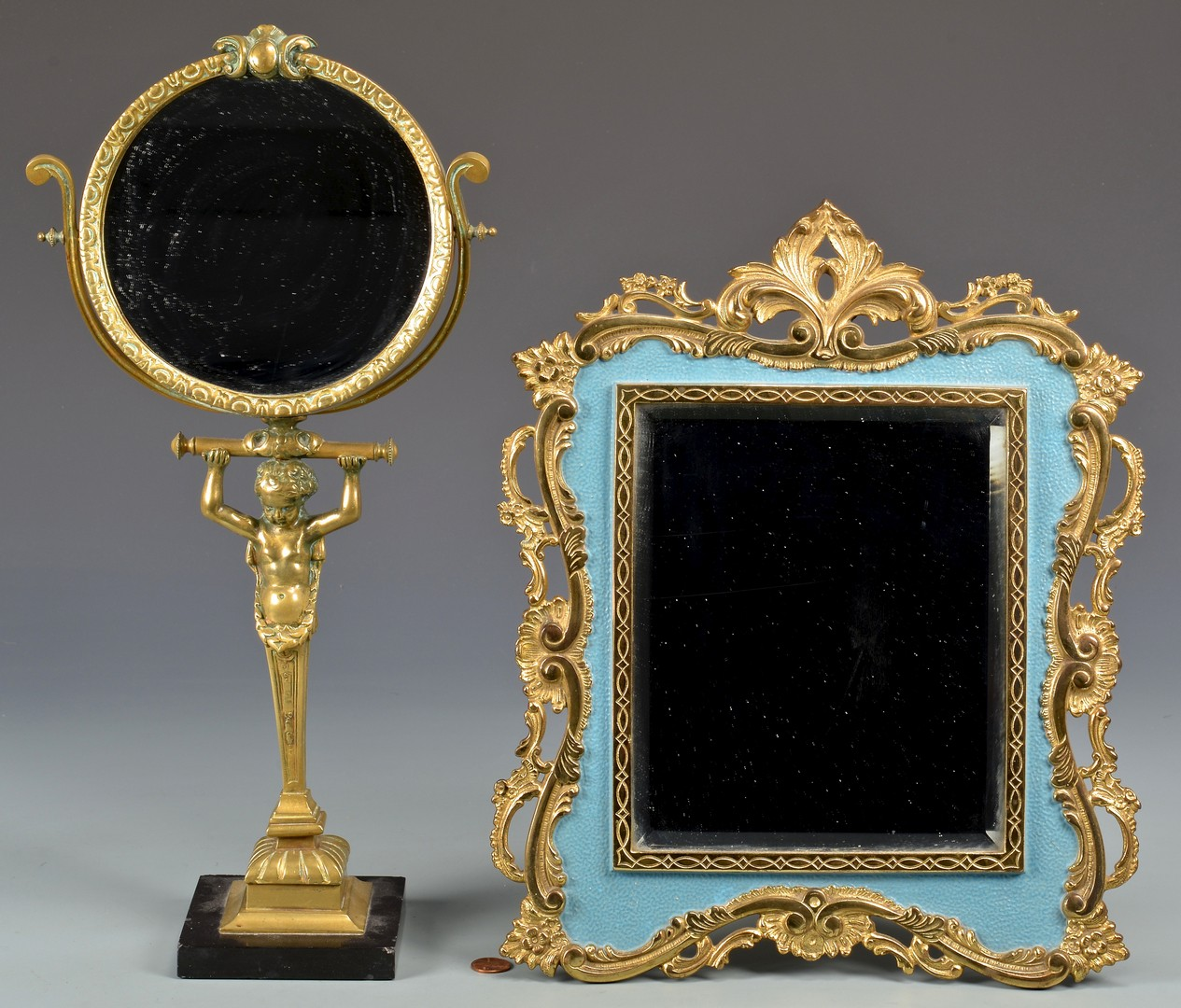 Lot 326: 2 Decorative Table Mirrors