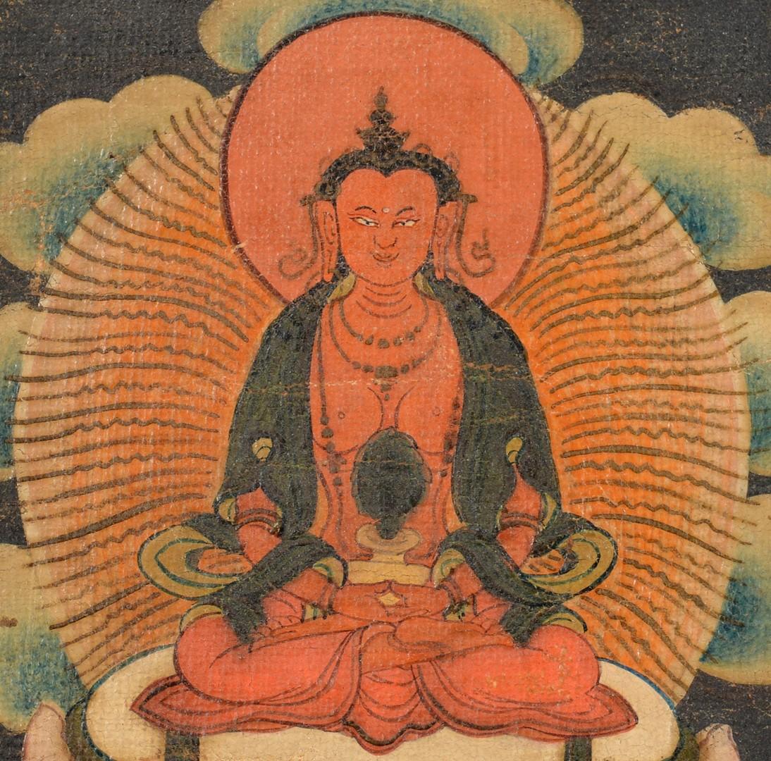 Lot 32: Tibetan Thangka, Ushnishavijaya