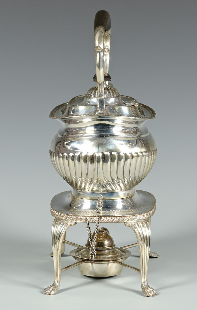 Lot 332: English E. Viners Sterling Tea Service, 6 pcs.
