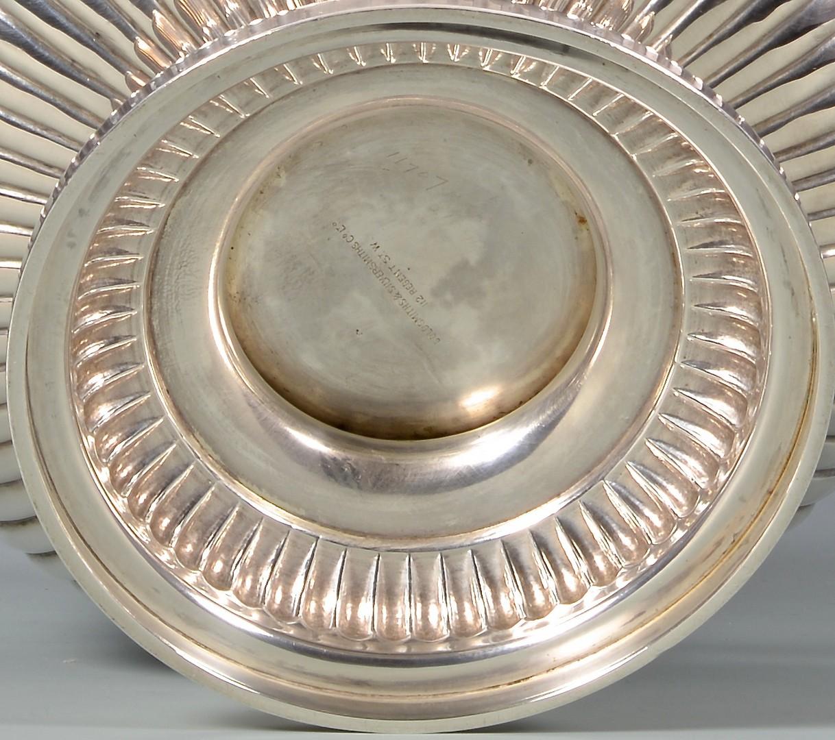 Lot 333: Edwardian Sterling Silver Center Bowl