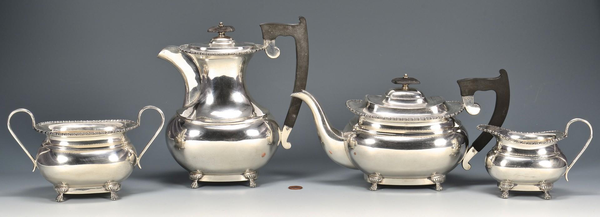 Lot 334: Viner Sheffield Sterling Tea Service
