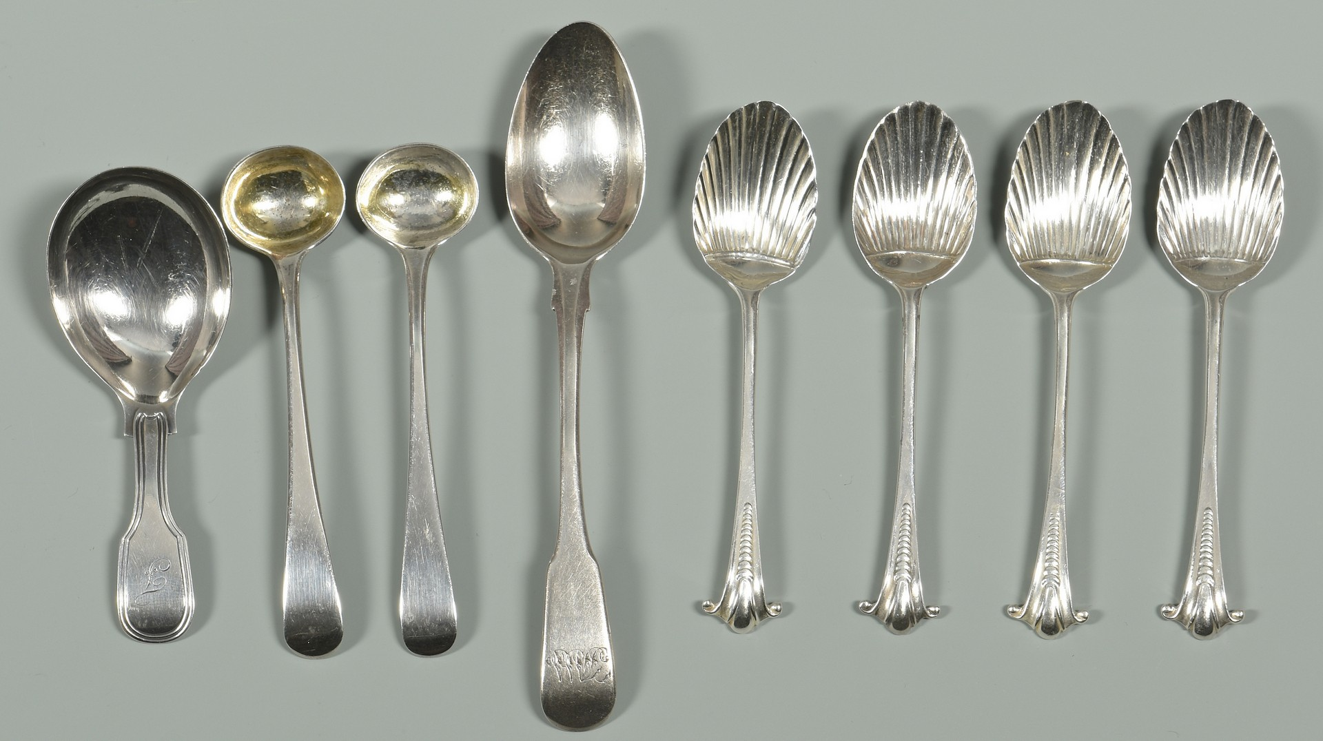 Lot 338: Assorted London Silver Flatware, 18 pcs