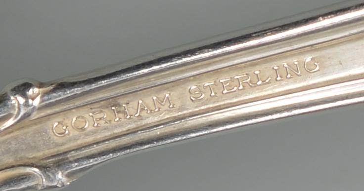 Lot 346: Gorham Chantilly Sterling Flatware set, 134 pcs