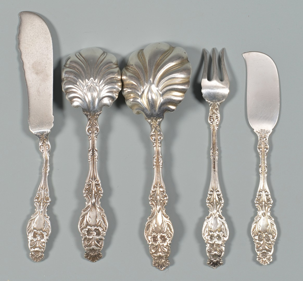 Lot 348: Whiting Sterling Flatware, Lily Pattern
