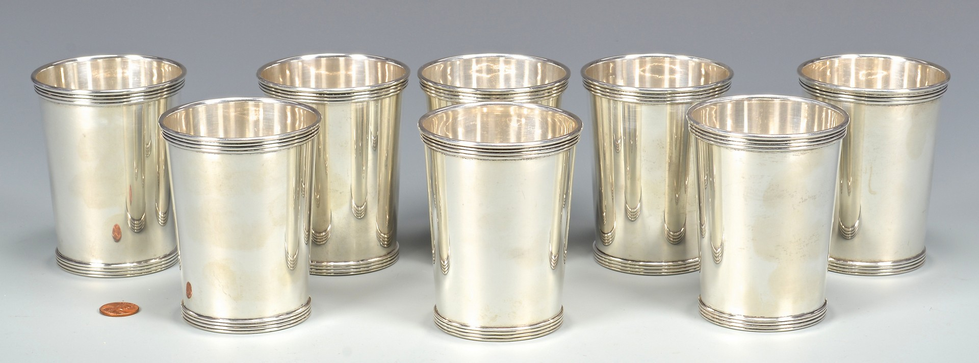 Lot 349: 8 International Sterling Julep Cups