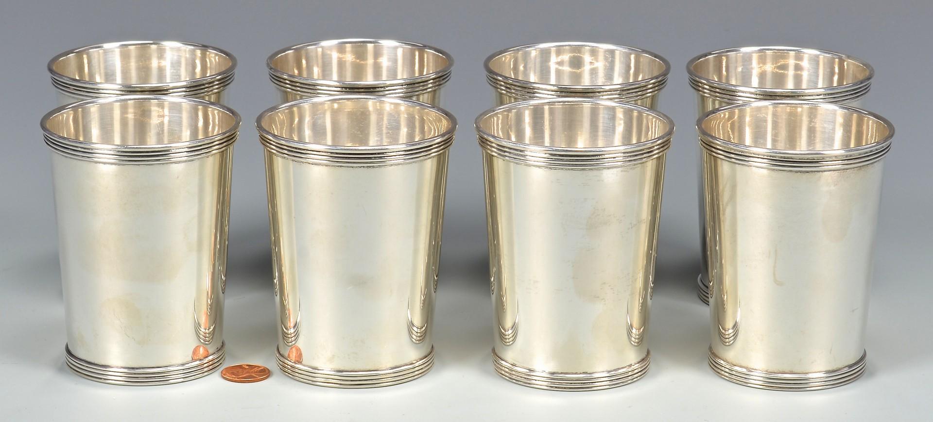 Lot 349: 8 International Sterling Julep Cups