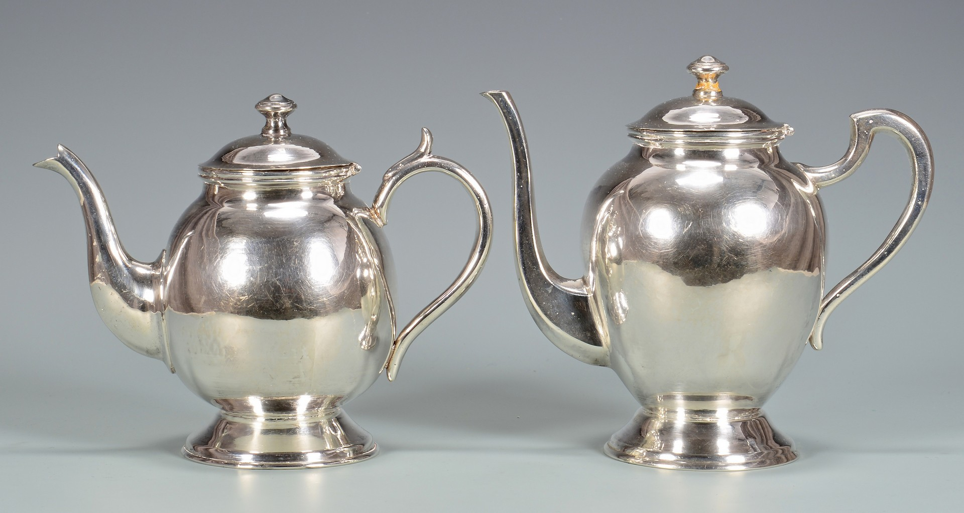 Lot 350: Heavy Peruvian Sterling Tray, Tea Set