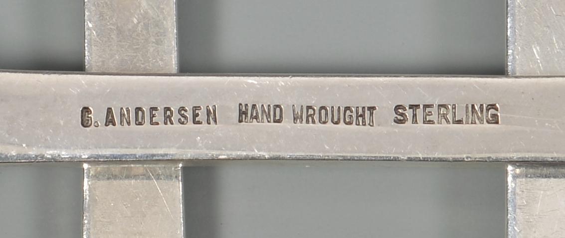 "Lot 351: Gunnar Andersen Sterling ""Karen"" Flatware, 75 pcs"