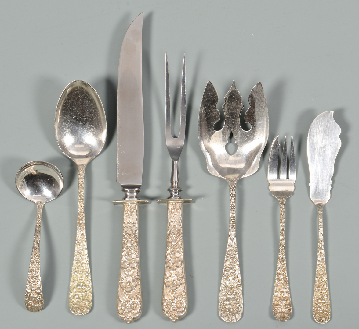 Lot 356 Stieff Quot Maryland Rose Quot Sterling Flatware