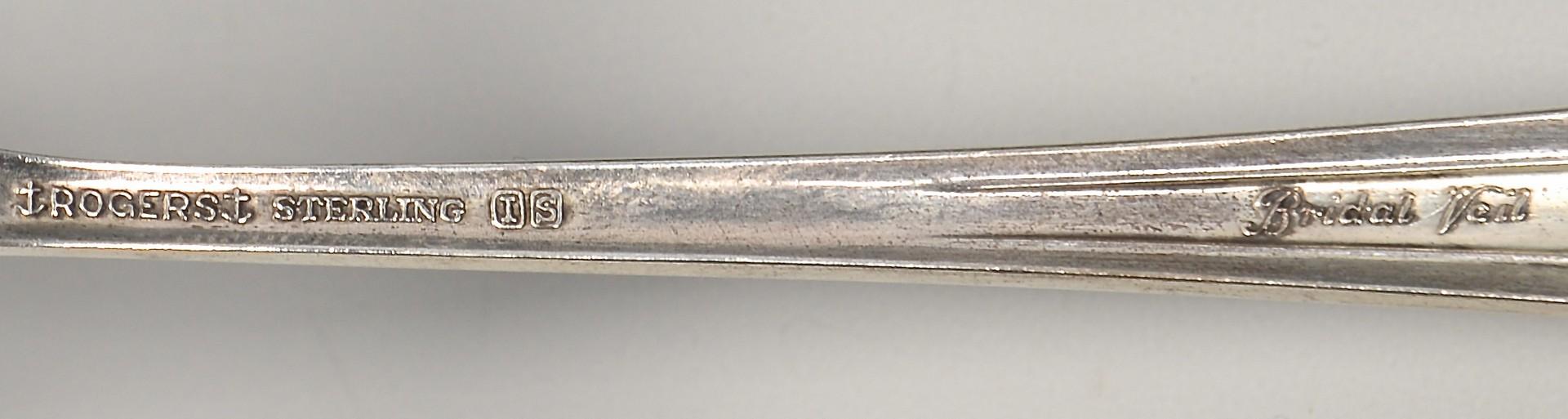 Lot 357: Rogers Bridal Veil Sterling Flatware
