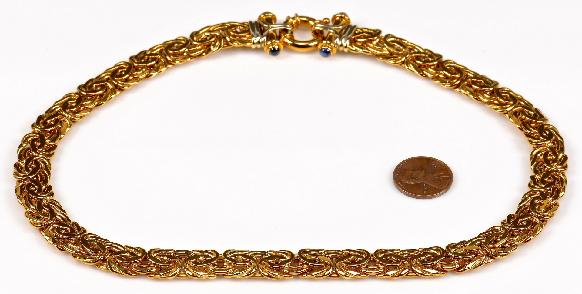 Lot 358: 18K Necklace with Sapphires, from Turkey