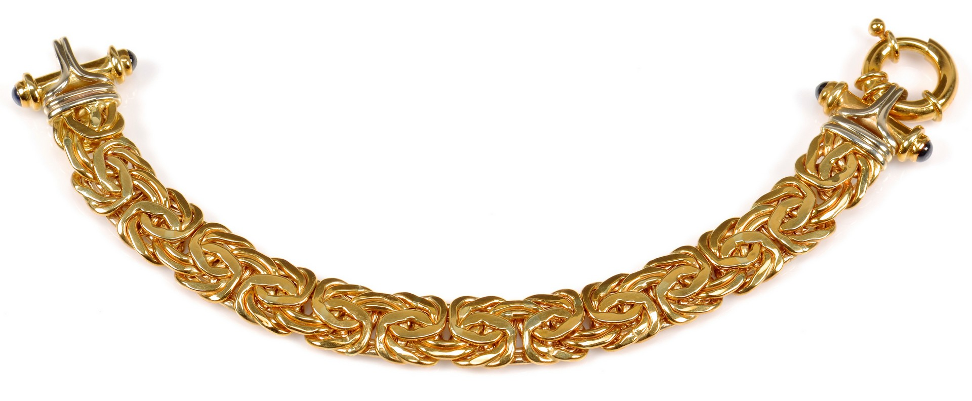 Lot 359: 18K Bracelet with Sapphires, from Turkey.