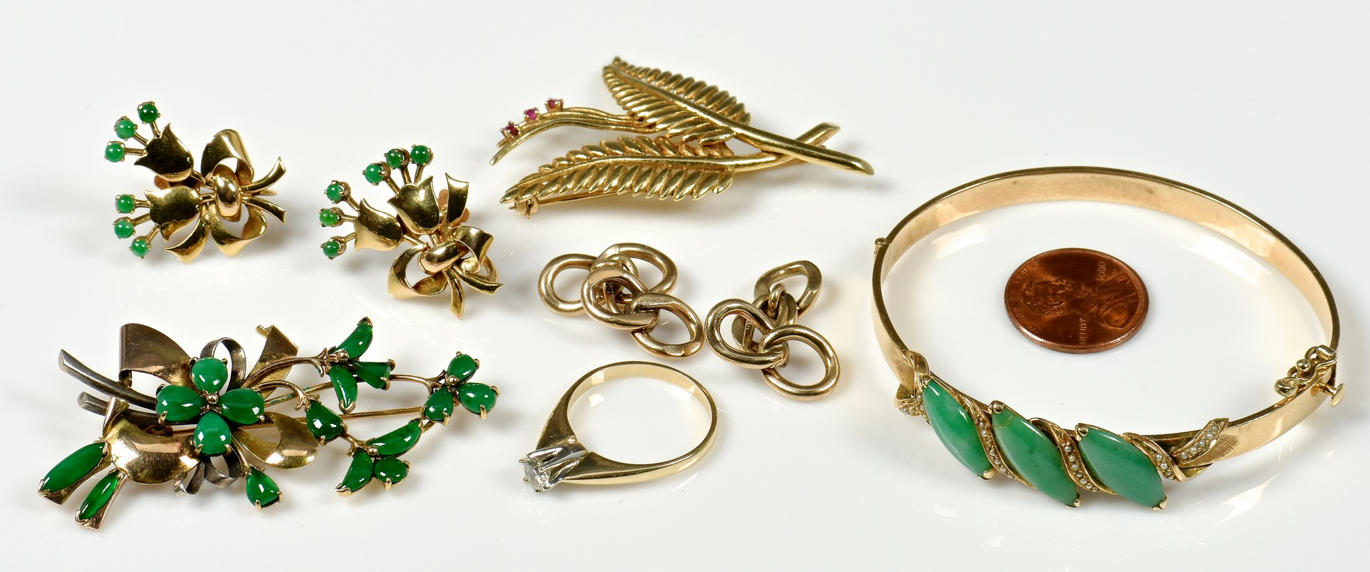Lot 362: Group of Gold Jewelry incl .40 ct Dia
