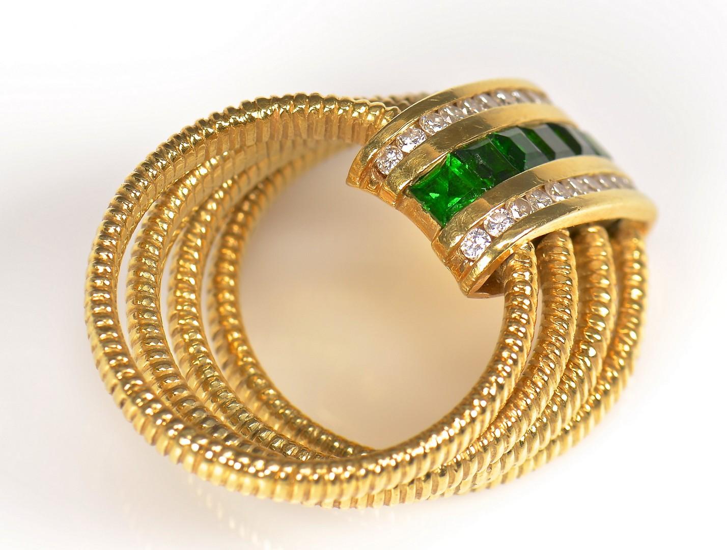 Lot 364: 18K SeidenGang Dia, Tourmaline Ring