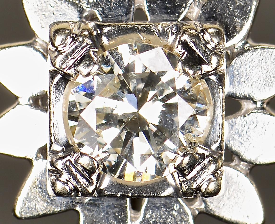 Lot 365: 14K white gold Diamond Studs