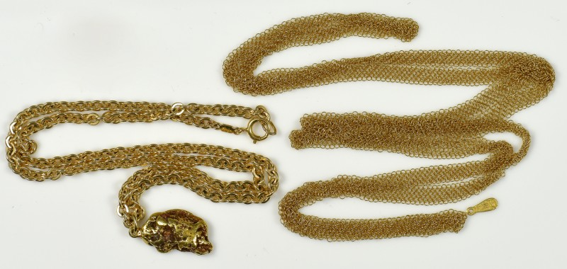 Lot 367: 2 Tiffany Necklaces, 18K Peretti Mesh