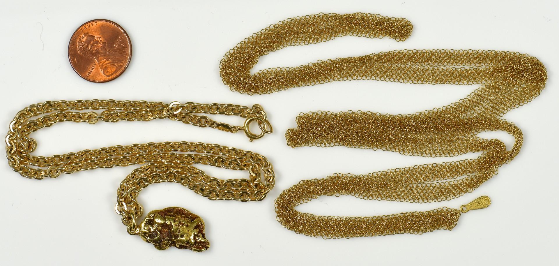 Lot 367: 2 Tiffany Necklaces, 18K Peretti Mesh