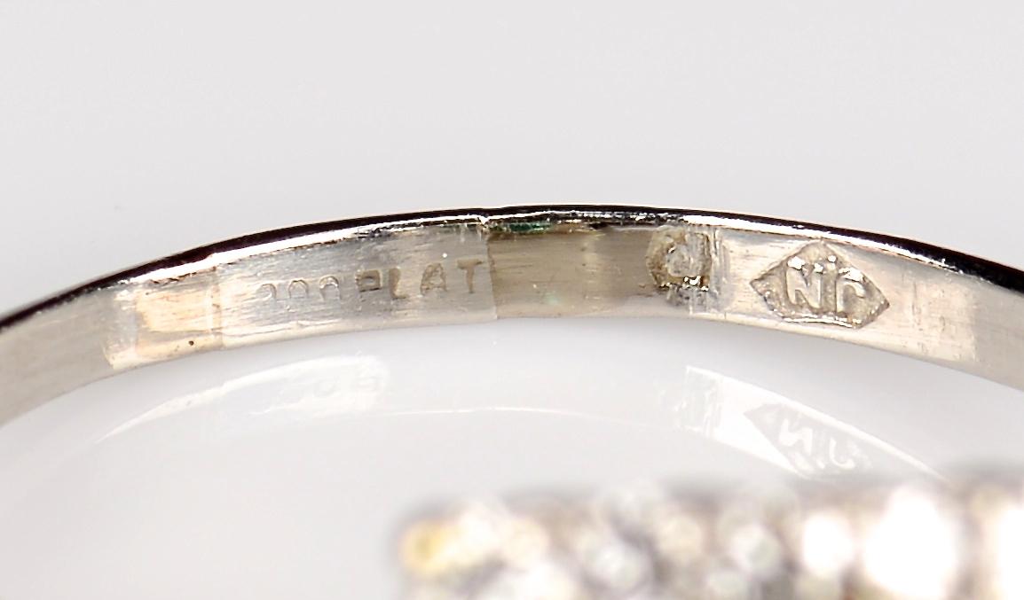 Lot 377: Platinum Emerald Diamond Ring plus opal set