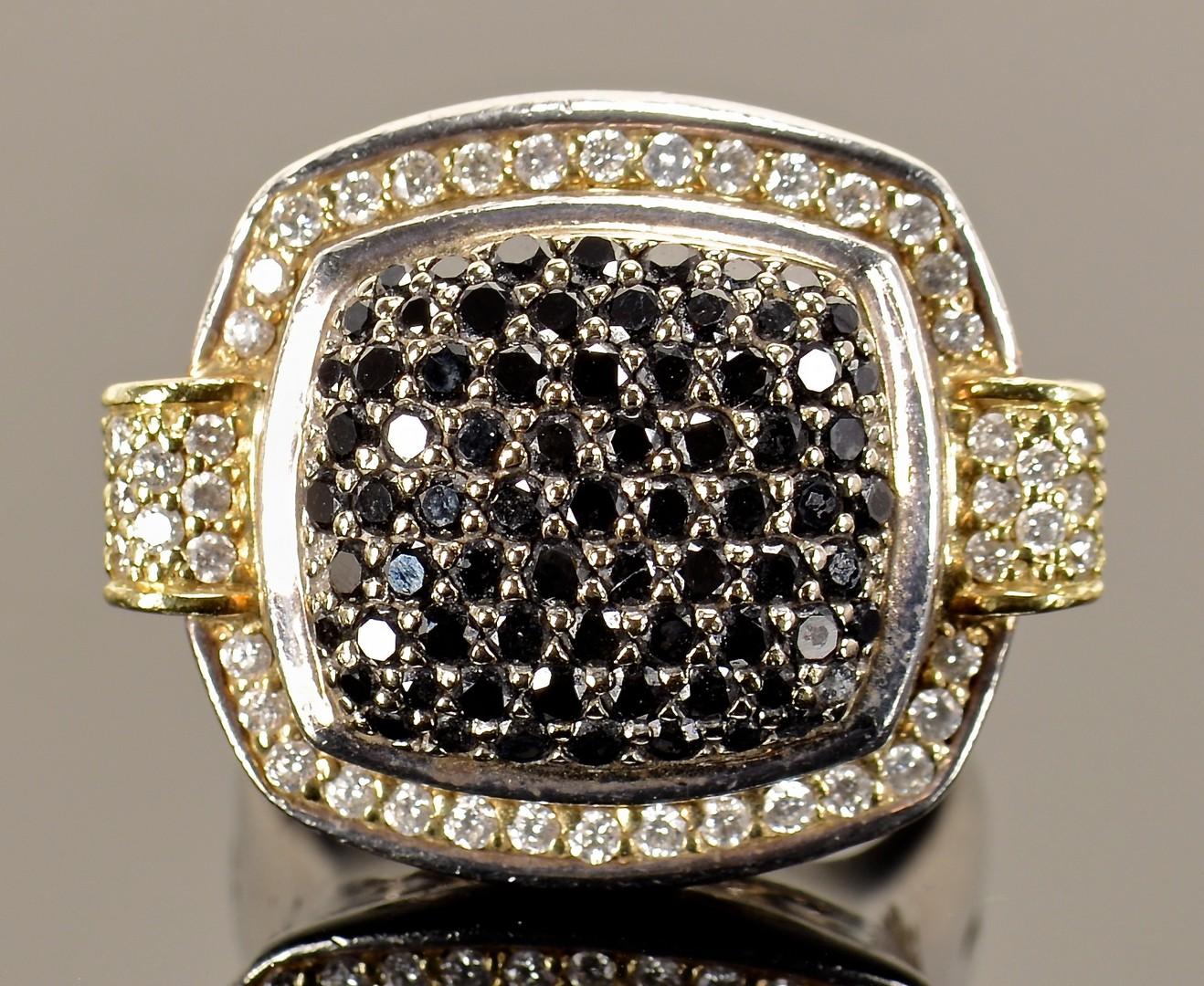 Lot 384: Two Lagos SS 18K Diamond Rings