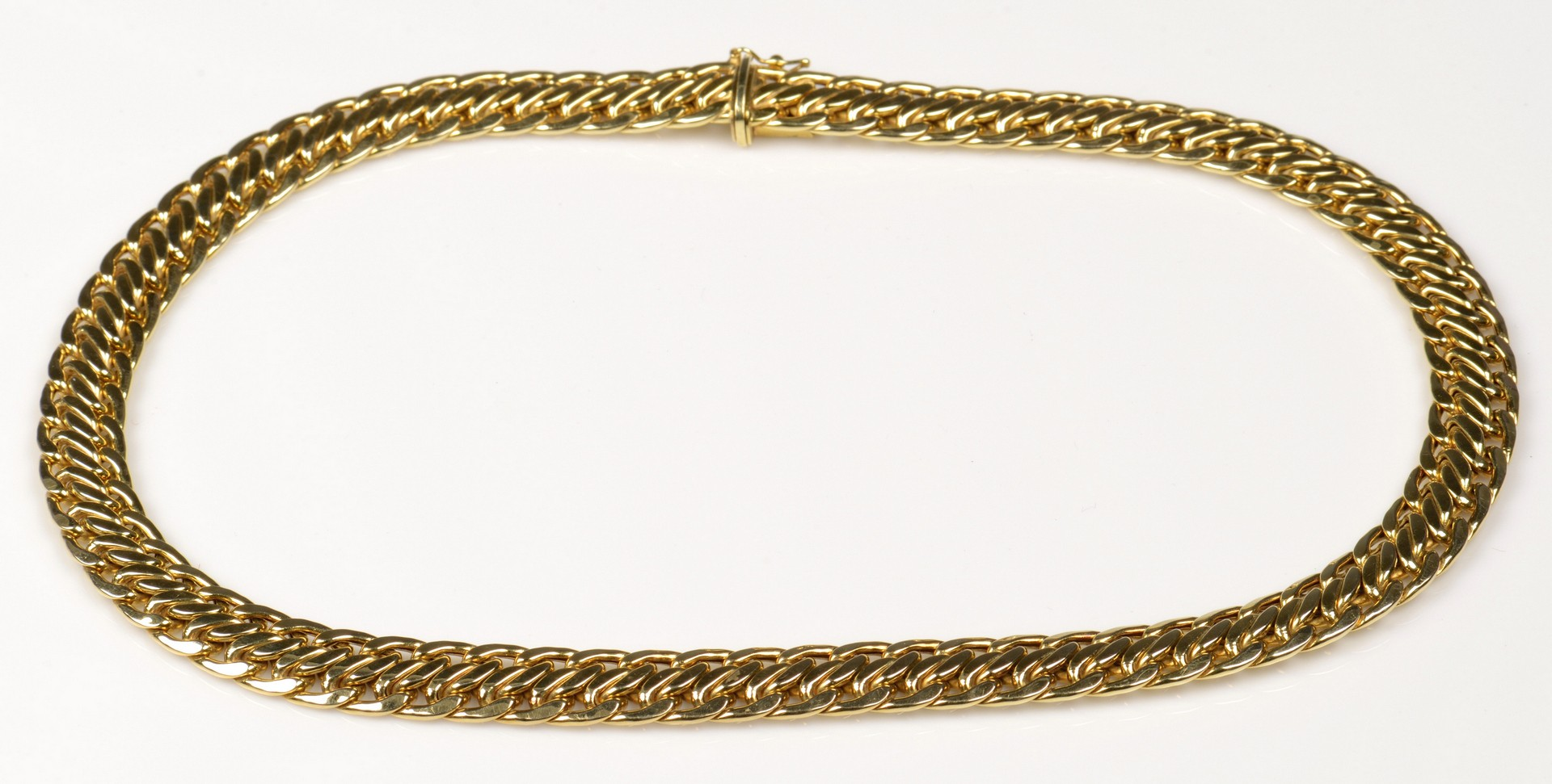 Lot 387: 14K Italian Serpentine Gold Necklace