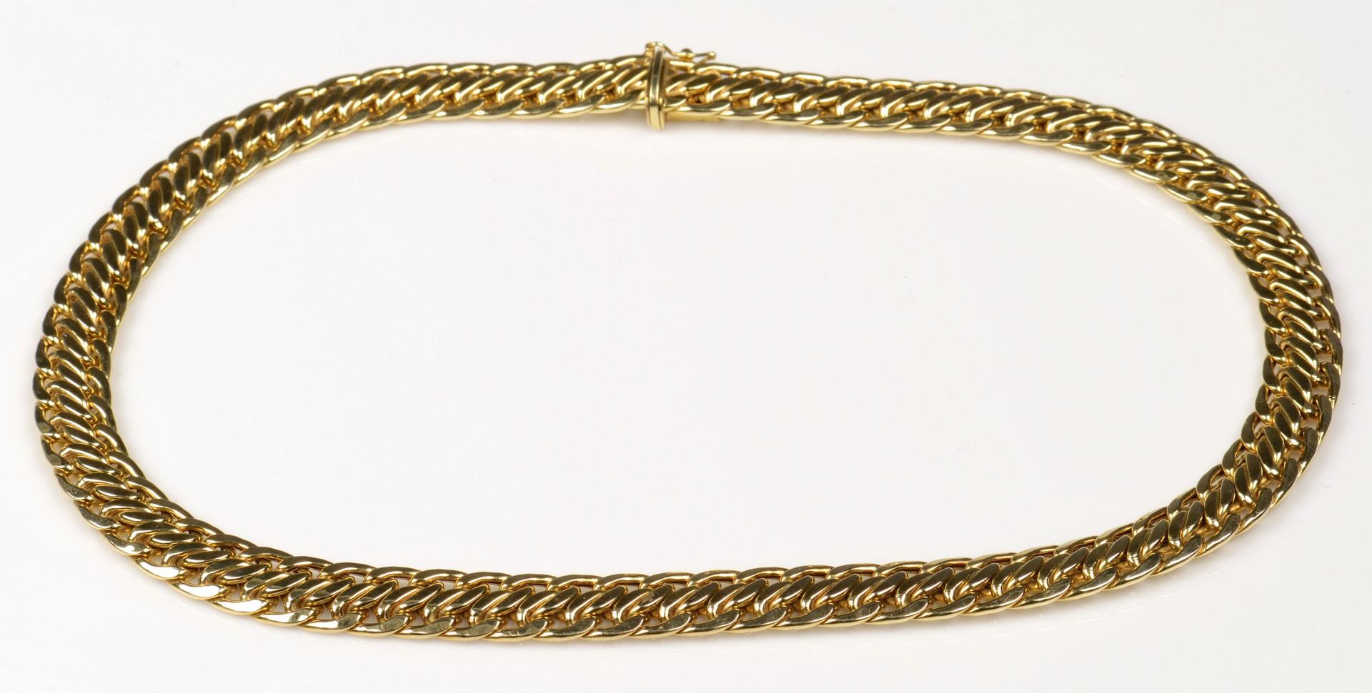 Lot 387: 14K Italian Serpentine Gold Necklace