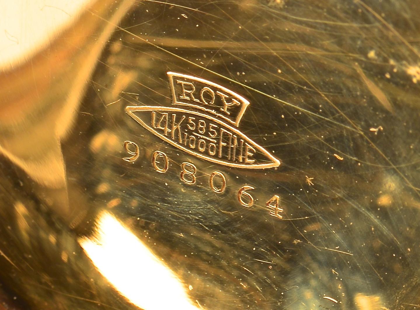 Lot 389: 14K 4-color Elgin Hunt Case Pocket Watch