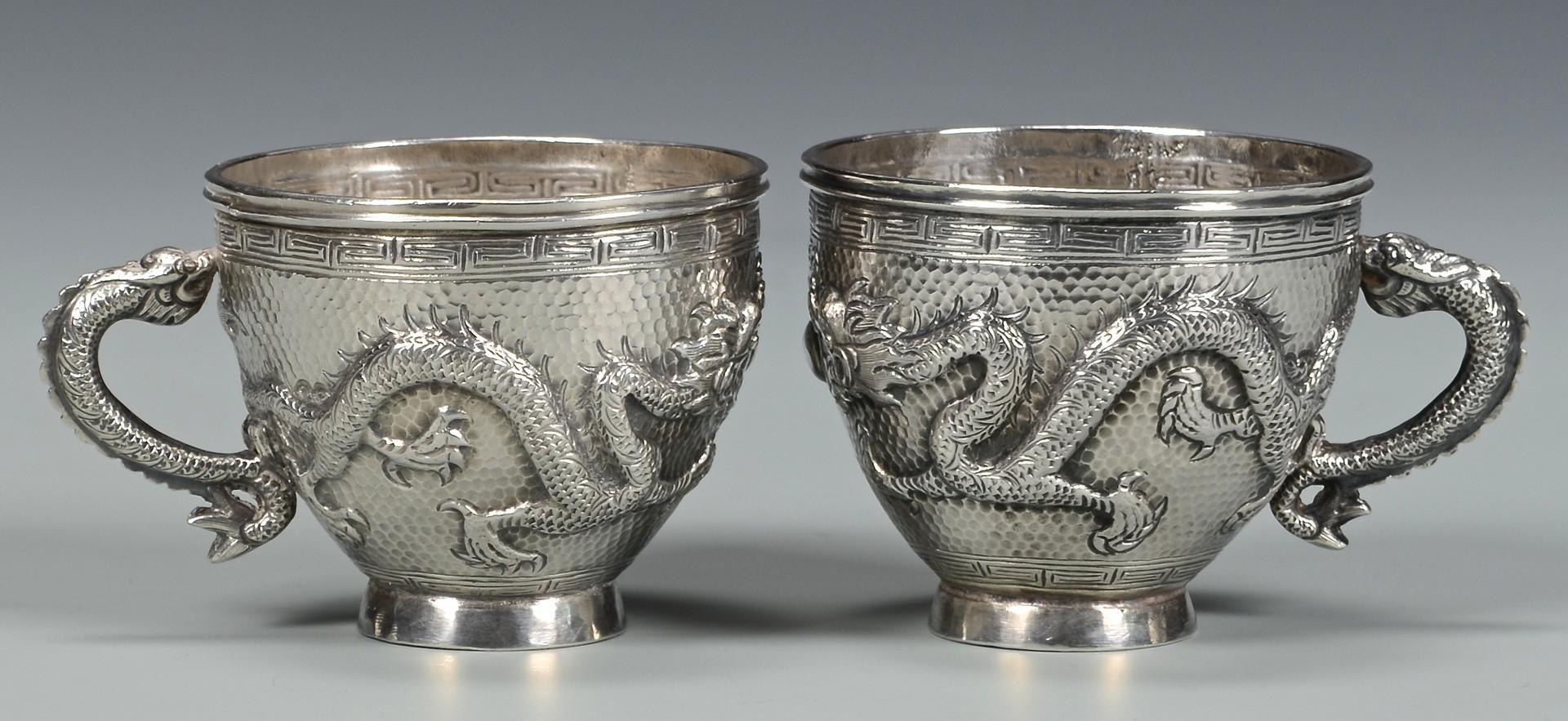 Lot 38: Chinese Export Silver Tea Set, 10 pcs