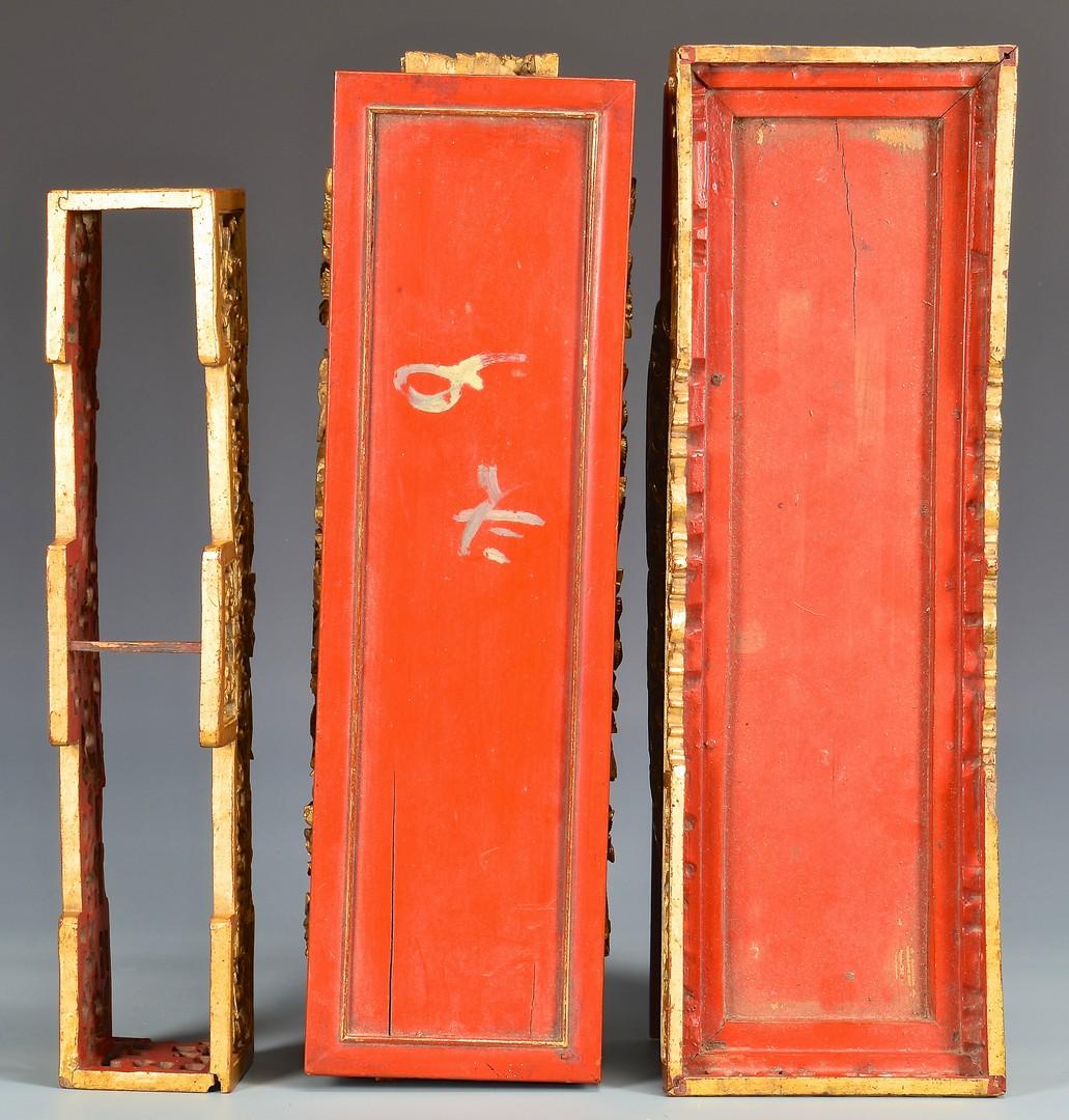 Lot 397: Chinese Gilt Carved Altar or Shrine