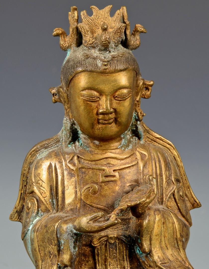 Lot 402: Chinese Gilt Bronze Buddha