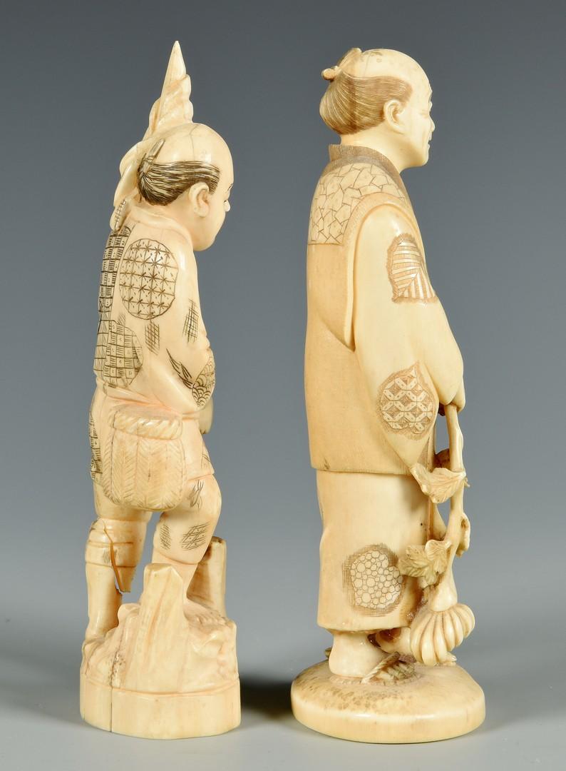 Lot 406: 5 Ivory Okimono and Netsuke Figures