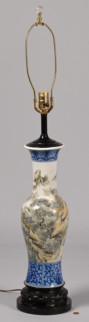 Lot 410: 2 Asian Porcelain Lamps