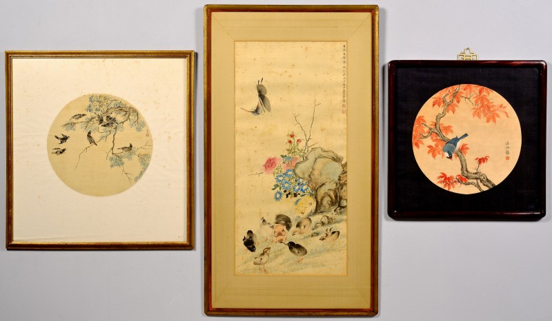 Lot 421: Group of 3 Chinese Paintings