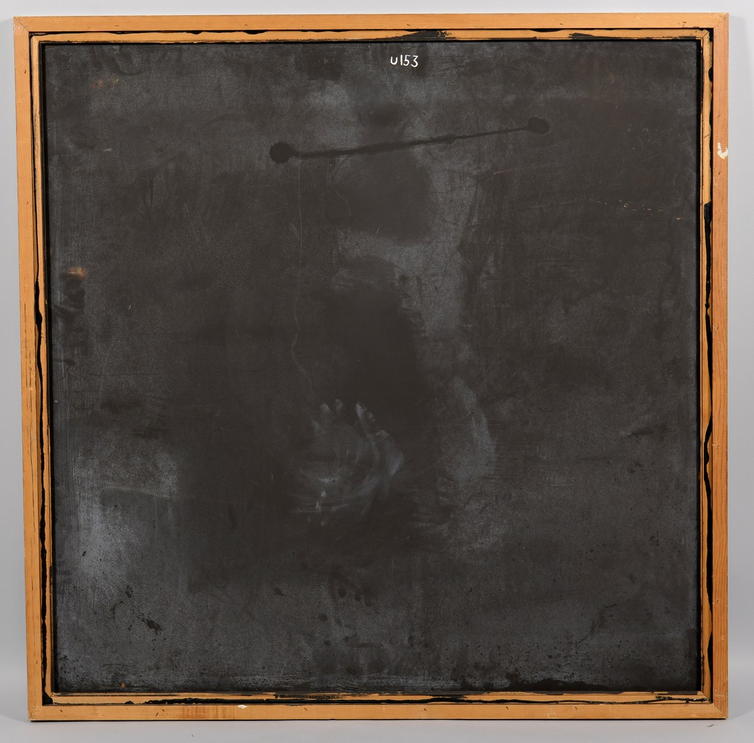 Lot 425: Richard Mann, abstract oil on board, shades of gra