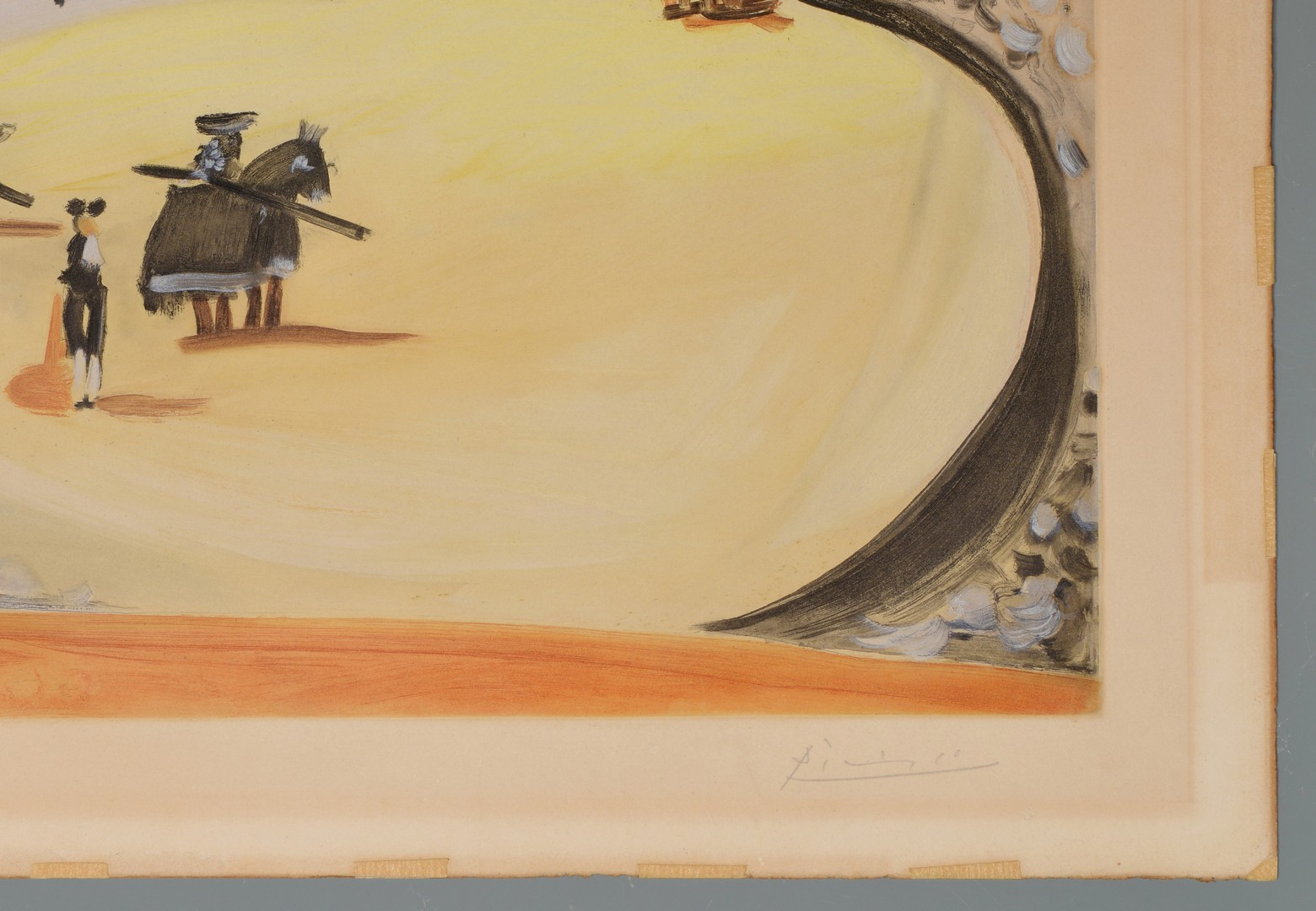 "Lot 432: Picasso aquatint ""La Corrida"""