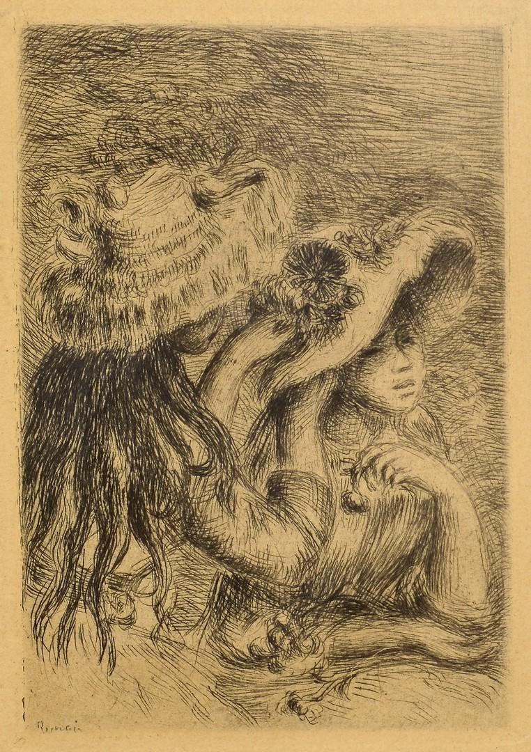 Lot 434: Villon Lithograph & Renoir Etching