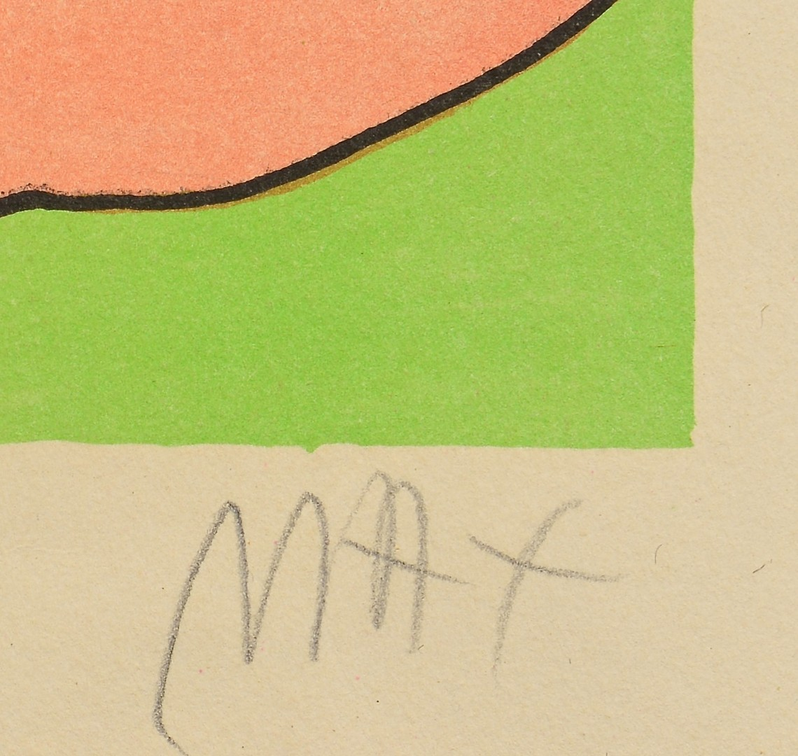 Lot 435: 2 works on paper, incl. Peter Max
