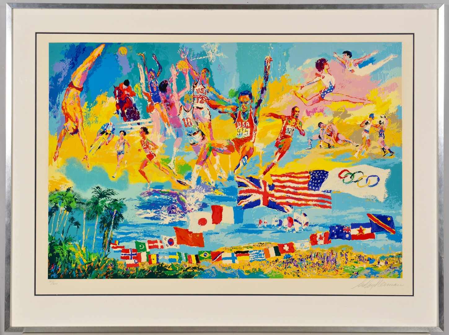 Lot 437: LeRoy Neiman Serigraph, American Gold