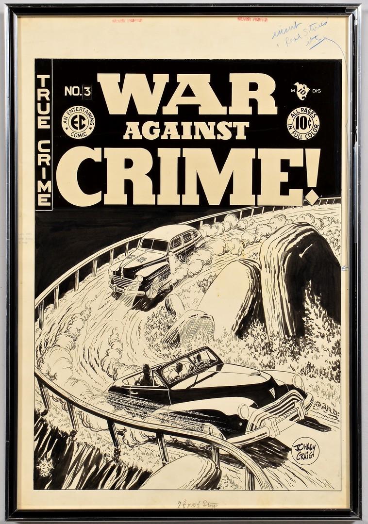 Lot 438: Johnny Craig War Against Crime #3 Cover Art
