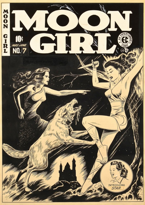 Lot 439: Sheldon Moldoff Moon Girl #7 Cover Art