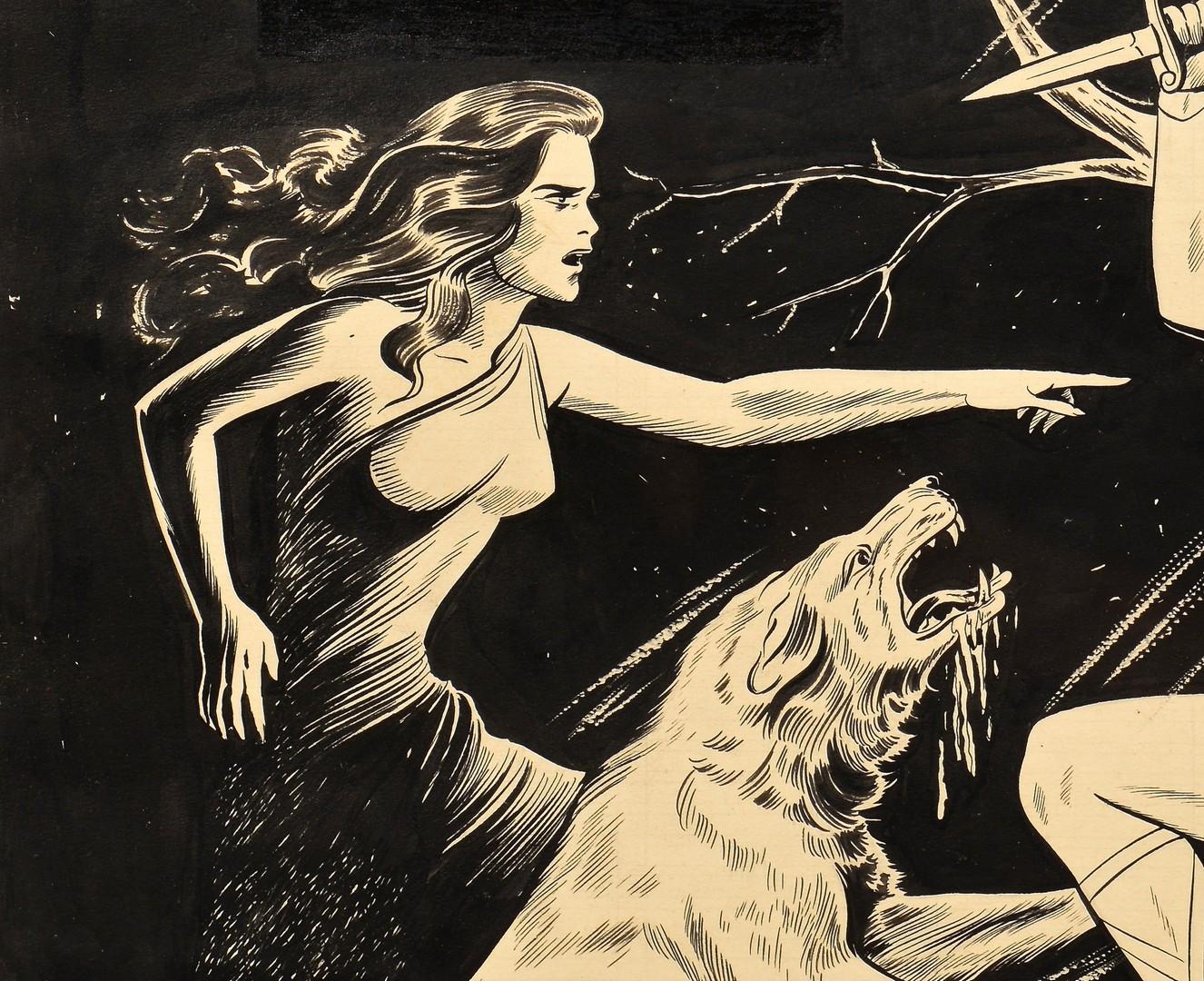 Lot 439: Sheldon Moldoff Moon Girl #7 Cover Art
