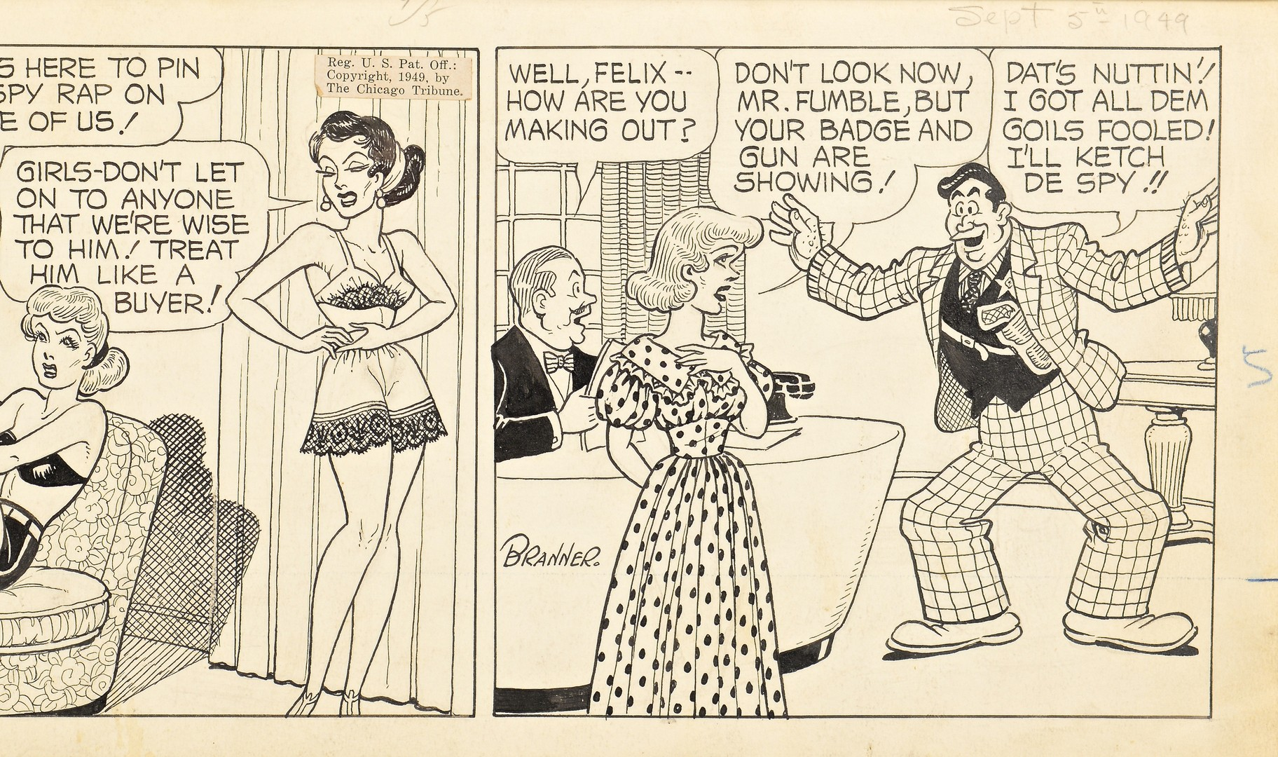 Lot 440: 2 Comic Strips: Caniff & Branner