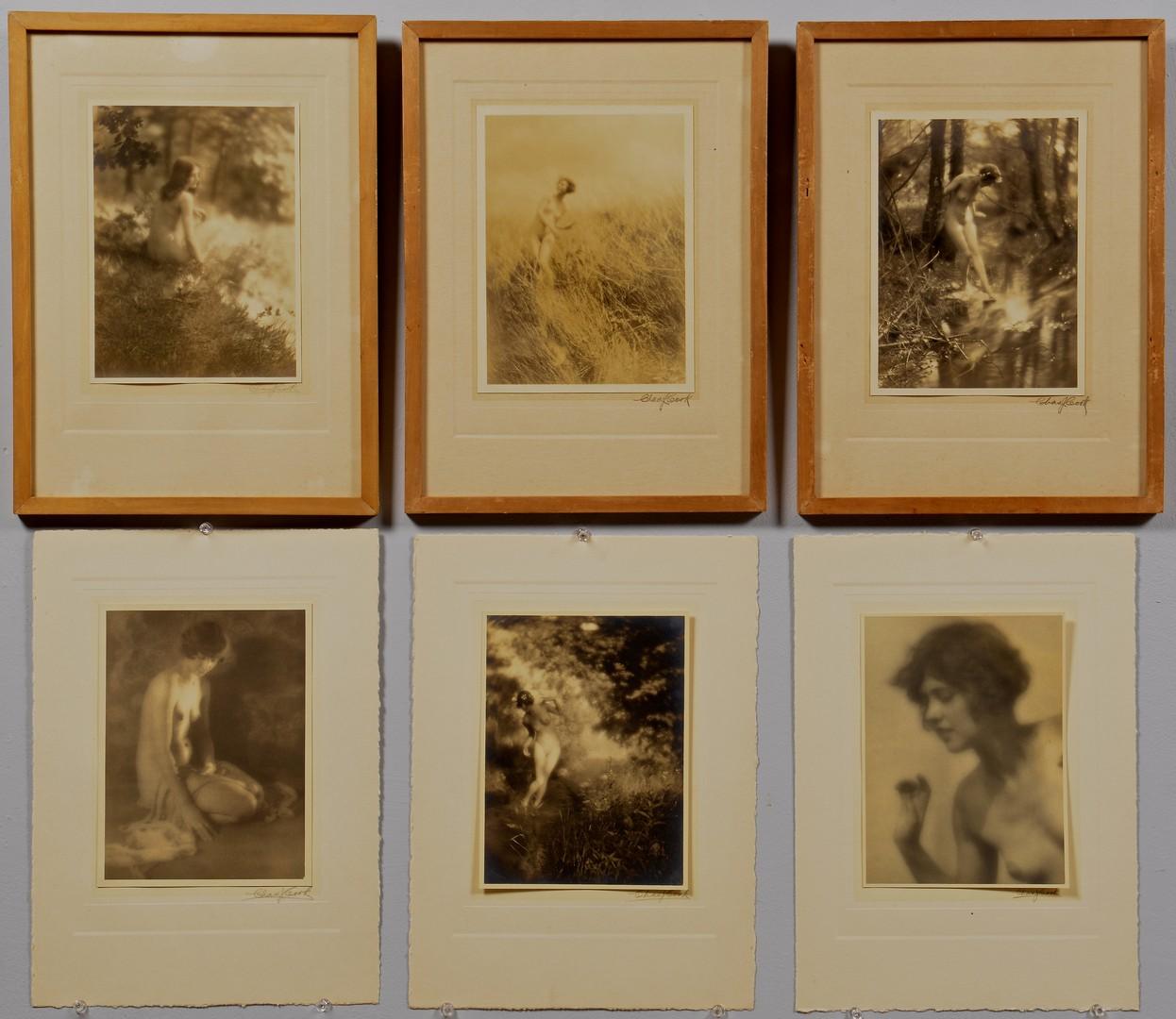 Lot 441: Charles J. Cook Gelatin Prints, Nudes