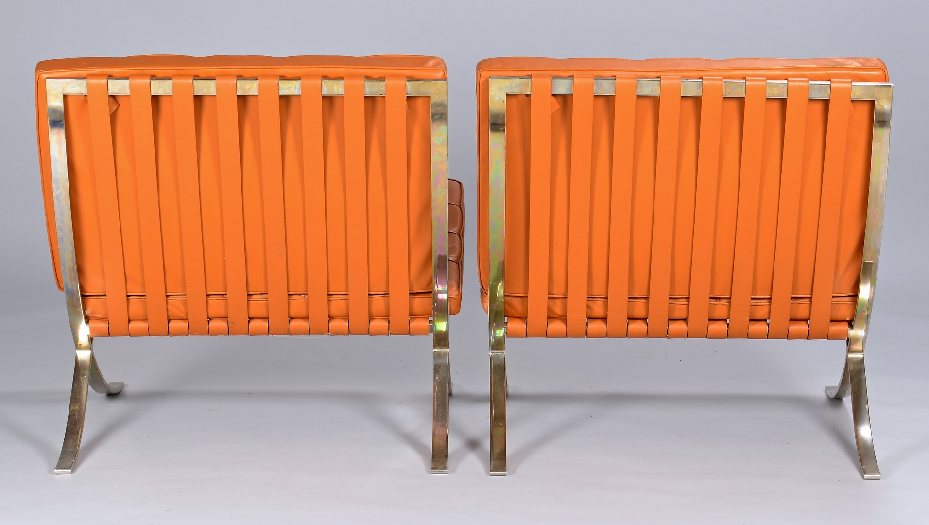 """Lot 445: Pair of """"Barcelona"""" Style Chairs"""