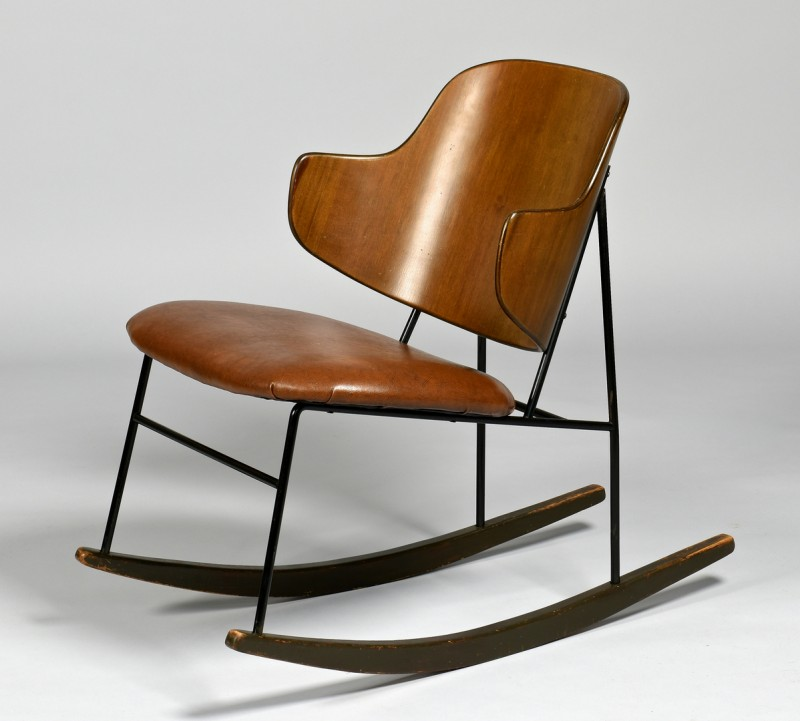 Lot 448: Ib Kofod Larsen Penguin Rocking Chair