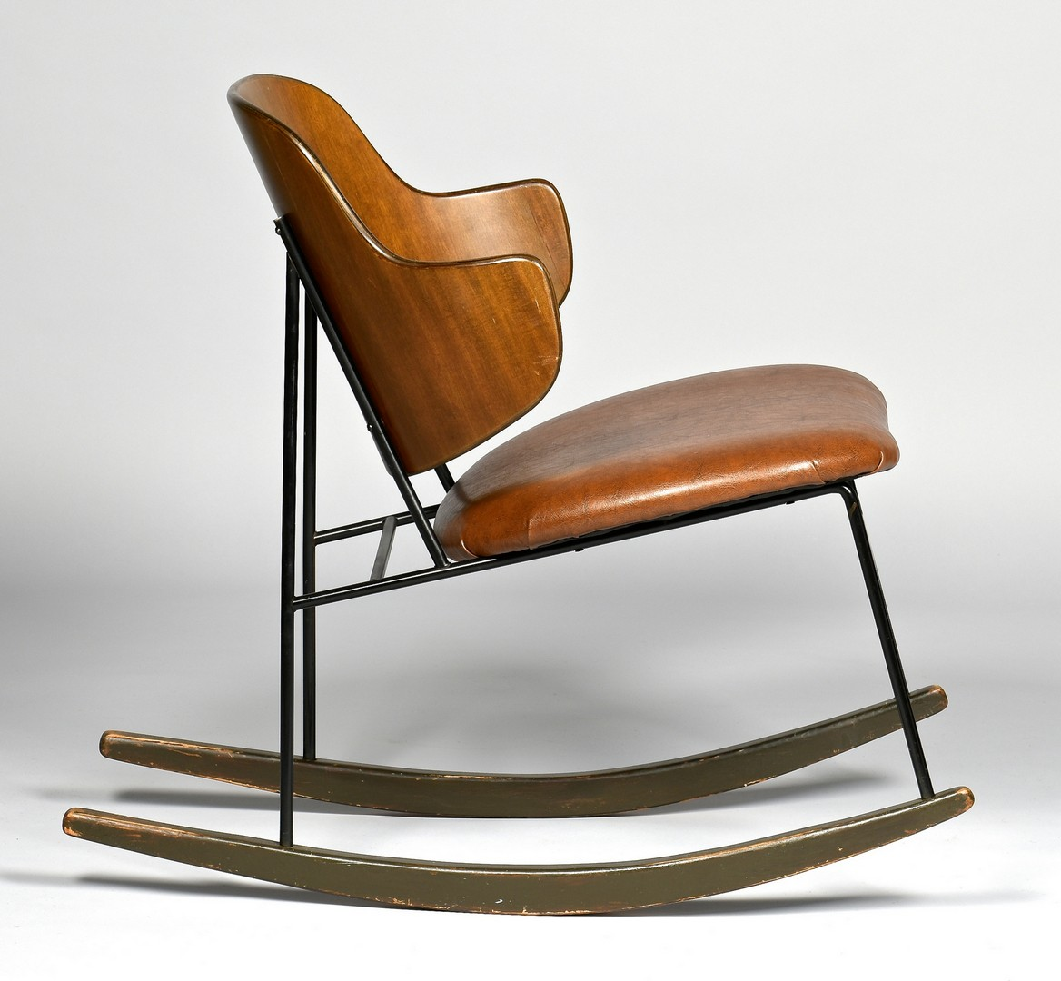 Lot 448: Ib Kofod Larsen Penguin Rocking Chair
