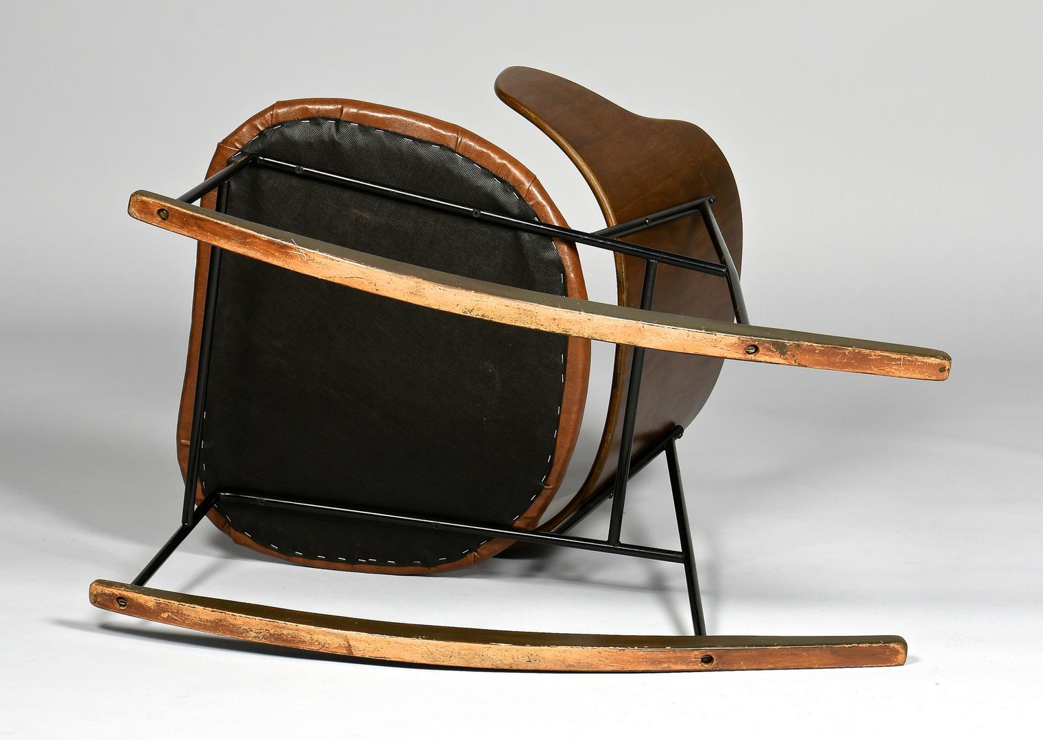 lot 448 ib kofod larsen penguin rocking chair. Black Bedroom Furniture Sets. Home Design Ideas