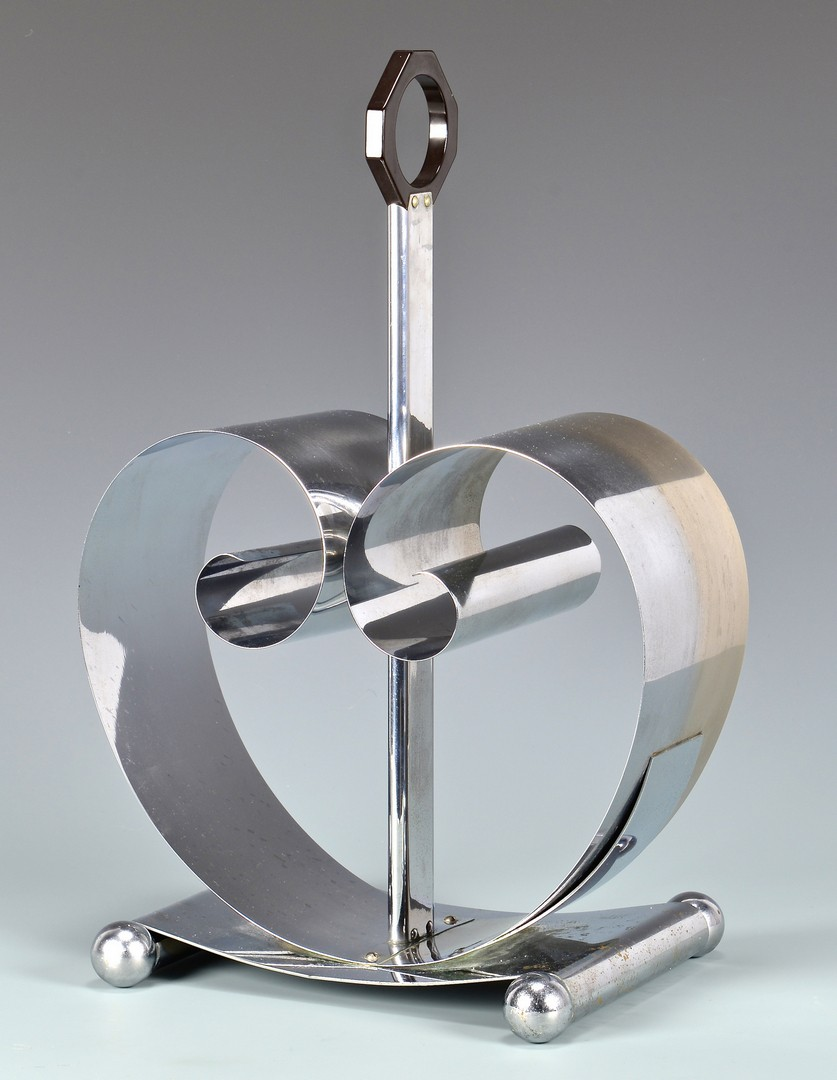 Lot 449: Mid-century Chrome Magazine Rack by Fred Farr