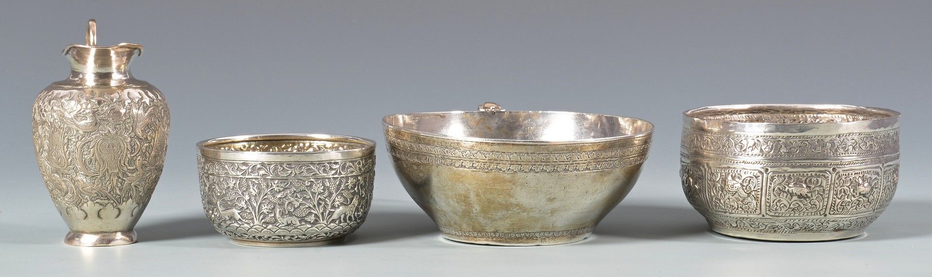 Lot 44: Exotic silver, most Southeast Asian