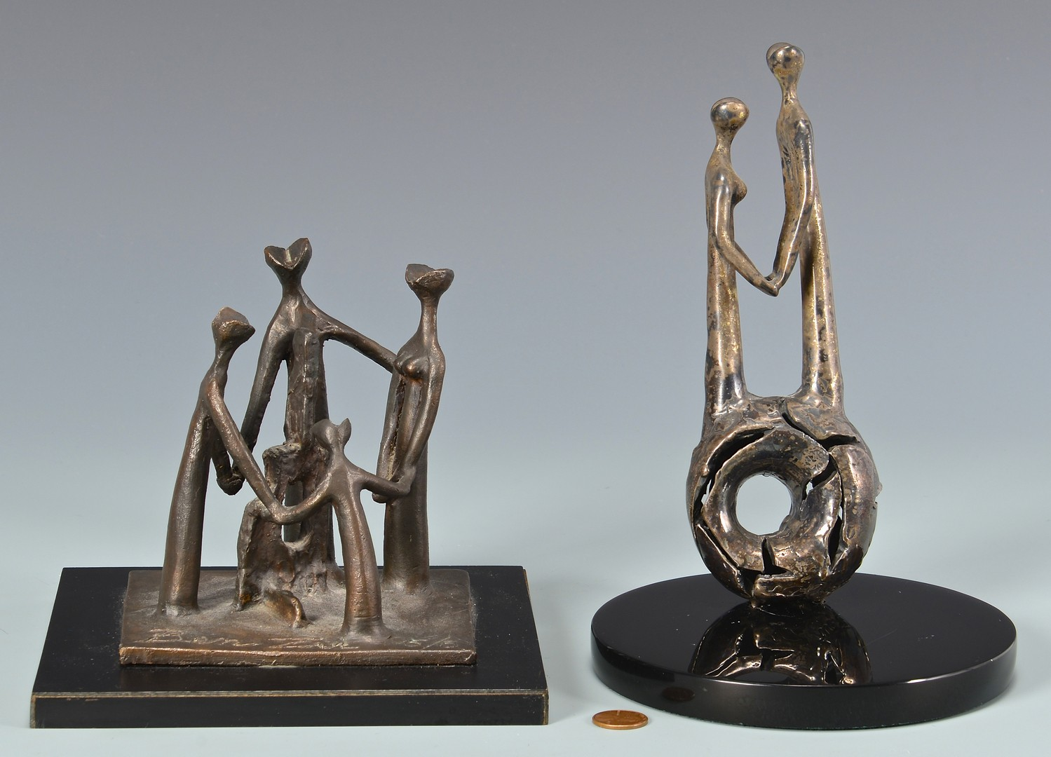 Lot 451: Gedalia Ben Zvi, 2 small sculptures
